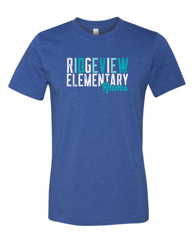 Ridgeview Elementary - Royal Blue Adult Tee