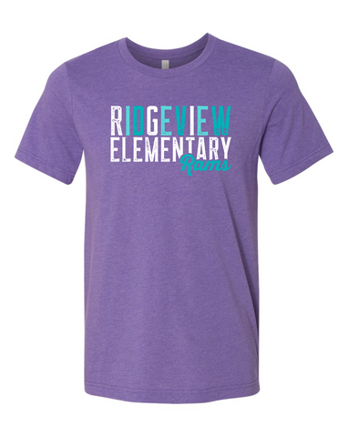 Ridgeview Elementary - Purple Adult Tee