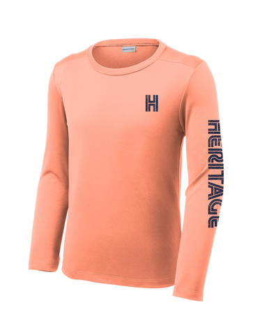 Heritage - Youth Long Sleeve Dry Fit - Coral