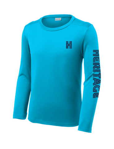 Heritage - Youth Long Sleeve Dry Fit - Sapphire