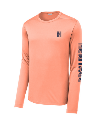 Heritage - Long Sleeve Dry Fit - Coral