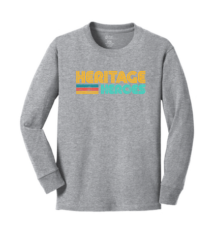 Heritage - Youth Long Sleeve Tee - Grey