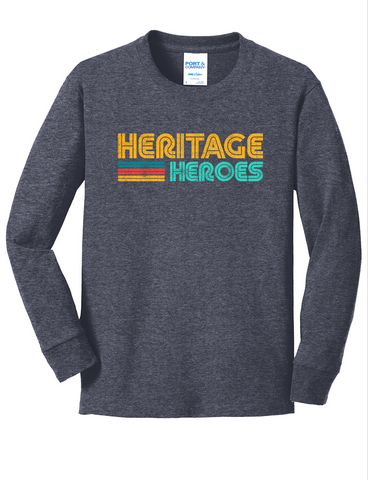 Heritage - Youth Long Sleeve Tee - Navy