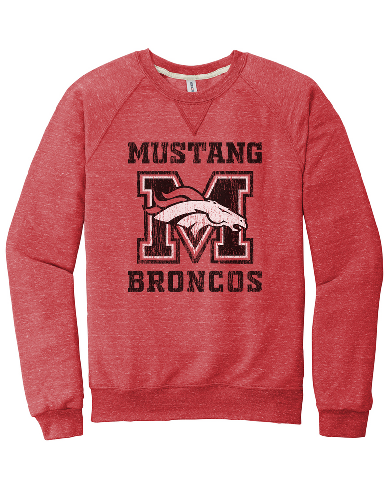 Mustang Broncos - Adult Sweatshirt - Red