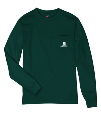 Mistletoe Market - Long Sleeve Pocket Tee