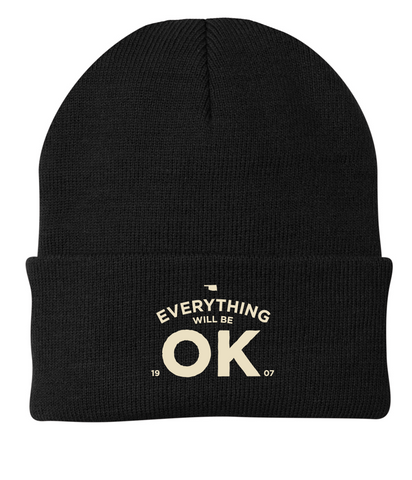 Everything Will Be OK - Black Beanie