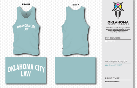 OCU Law Tank Top - Chalky Mint