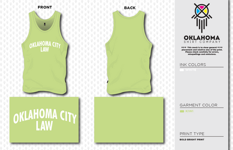 OCU Law Tank Top - Kiwi