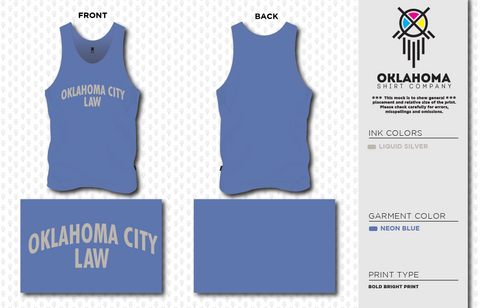 OCU Law Tank Top - Neon Blue