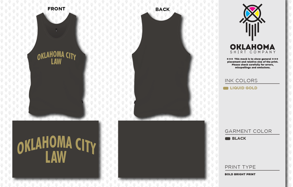 OCU Law Tank Top - Black
