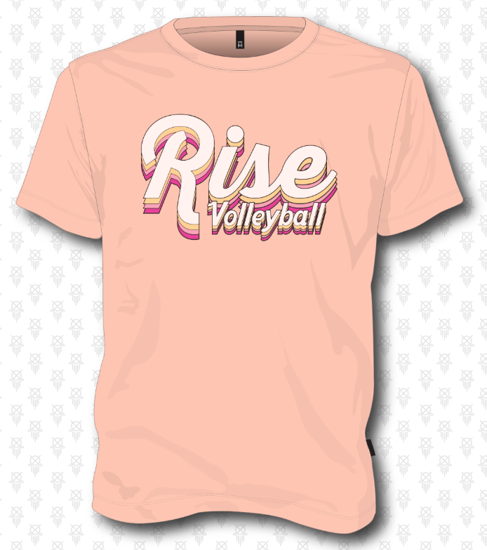 Rise Volleyball Short Sleeve - Dusty Peach