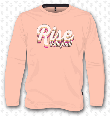 Rise Volleyball Sweatshirt - Peach