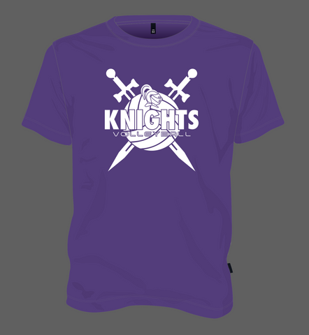 Knights Volleyball Shield - Purple