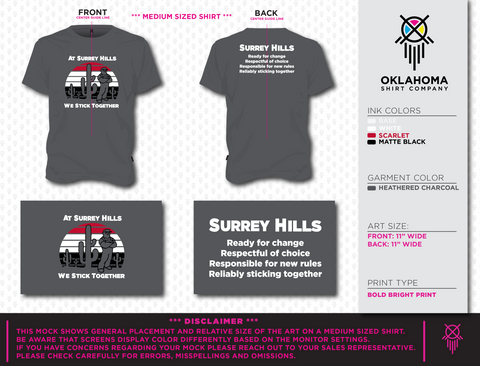 Surrey Hills Adult T-shirt