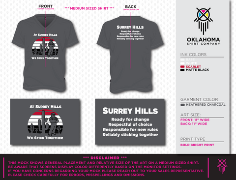 Surrey Hills Women's V-neck T-shirt