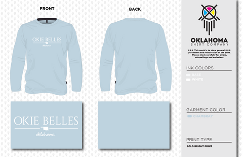 Okie Belles LS Chambray