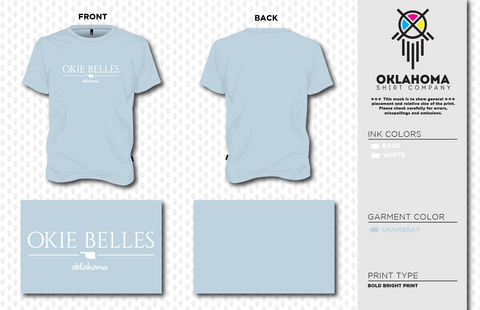 Okie Belles SS Chambray