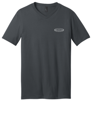 Rehab Source - Charcoal V-neck - Logo Only
