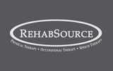Rehab Source - Ice Blue T-shirt - Logo Only