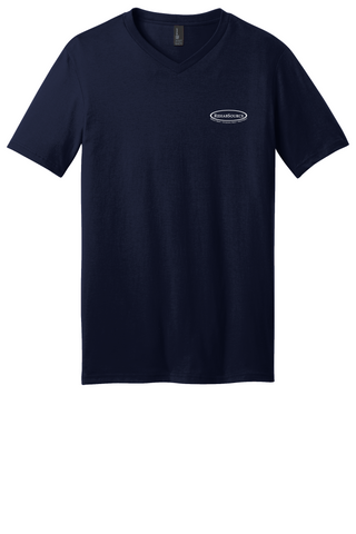Rehab Source - New Navy V-neck - Logo Only