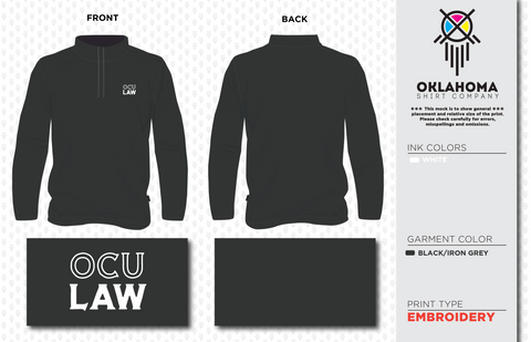 OCU PAD - Black 1/4 Zip Embroidered