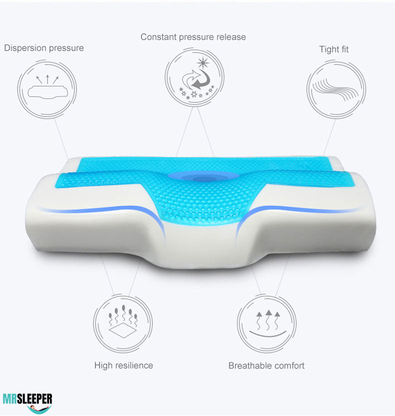 Get a good night's sleep thanks to this comfortable gel pillow neck Pillow- support your head and neck-Best 2020 neck and head pillow- cool get summer pillow- gel technology - MrSleeper Nano Pillow