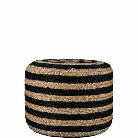 HEMP STRIPED POUF