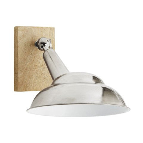 SATURN SILVER SCONCE