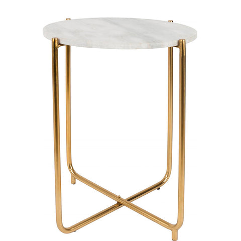 TIMPA MARBLE SIDE TABLE
