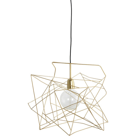 ASYMMETRIC GOLD LAMP