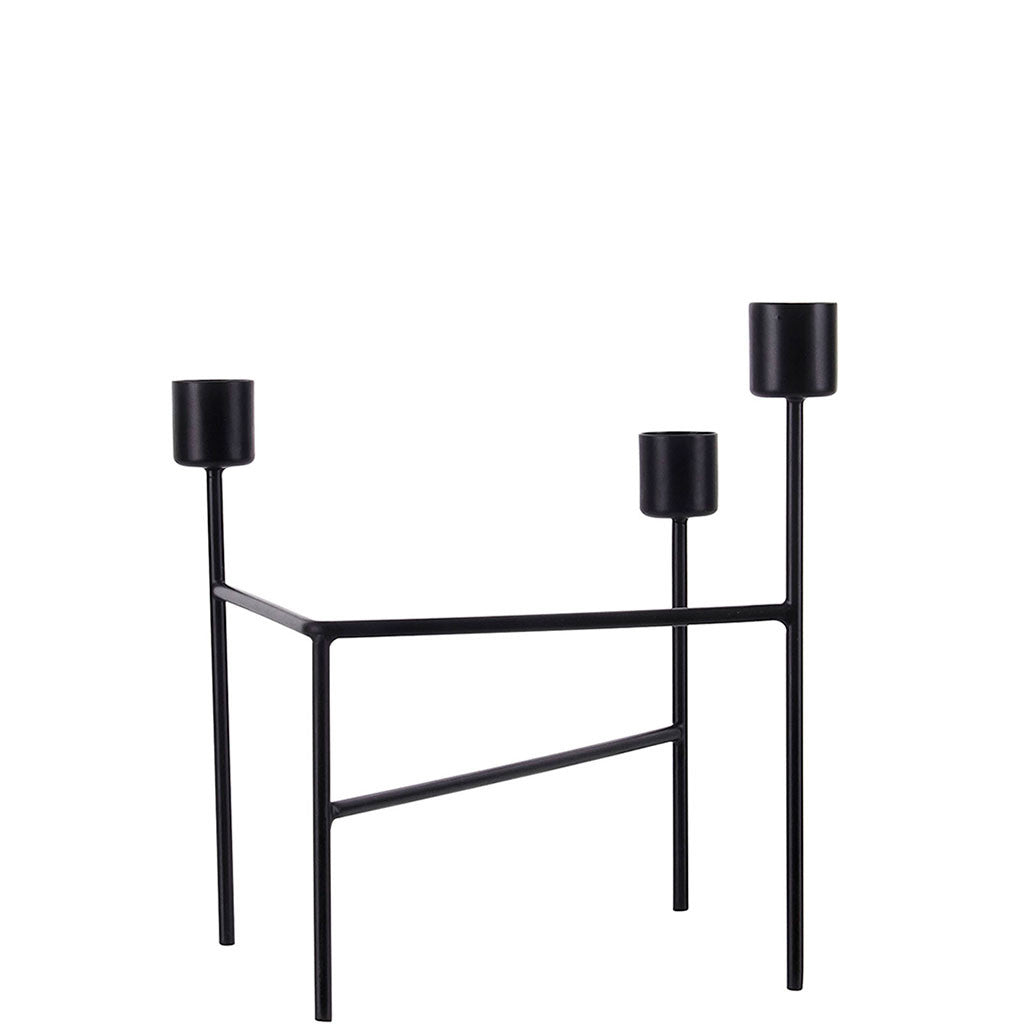 TROIS BLACK CANDLE HOLDER