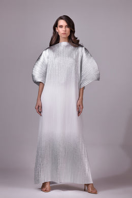Pleated Metallic Kaftan