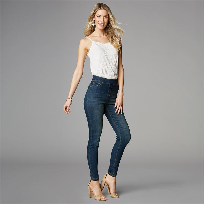 OMG High Rise Skinny Jean-Dark Denim