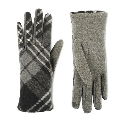 Plaid Stretch Touchscreen Gloves
