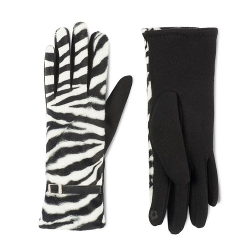 Belted Animal Print Touchscreen Gloves