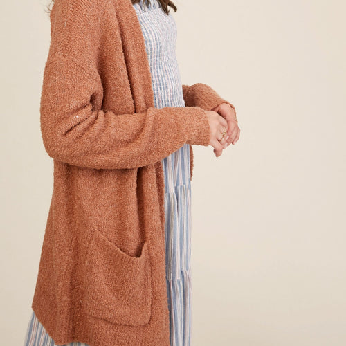 Two Tone Soft Touch Button Down Cardigan Sweater