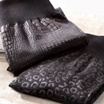 Animal Embossed Fleece Leggings