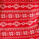 Red Fair Isle Fleece Leggings