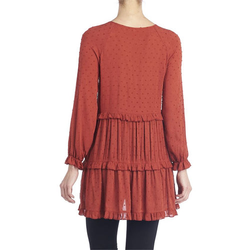Ruffle-Up Tiered Tunic-Sierra
