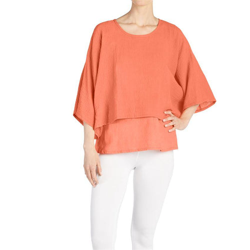 Double Layer Gauze Top