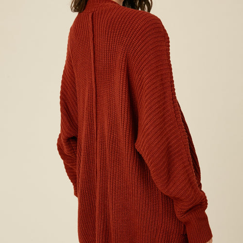 Ribbed Open Sweater Cardigan