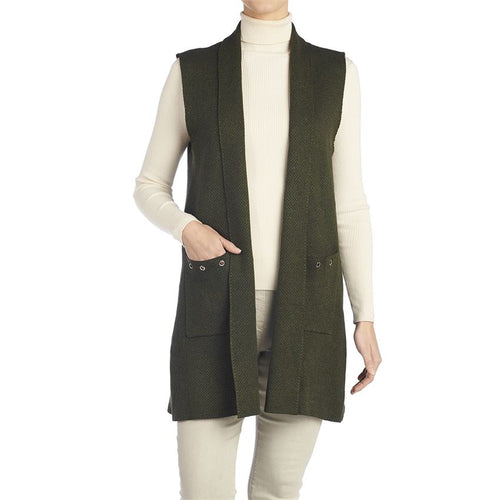 Long Grommet Sweater Vest