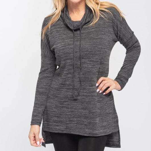 Black/Grey Drawstring Tunic