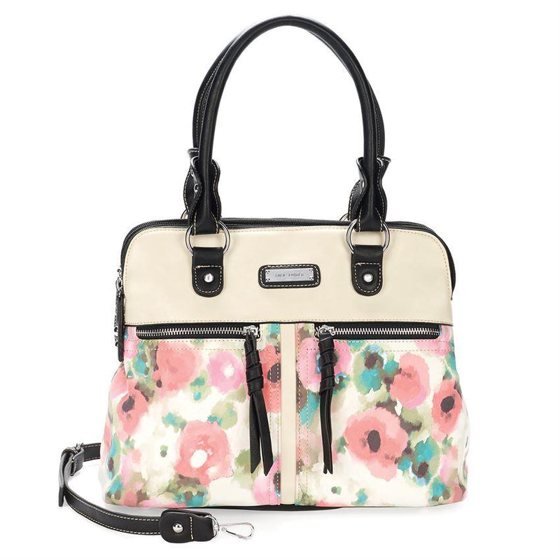 Reese Satchel-Watercolor Poppies