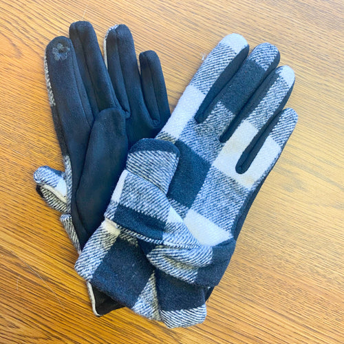 Multi Plaid Gloves