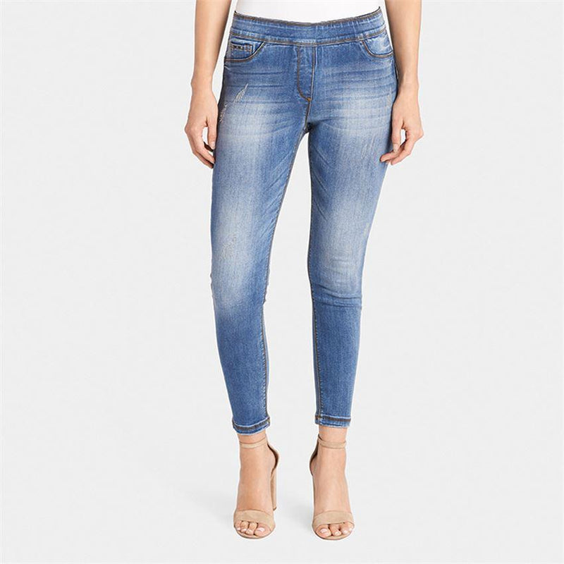 OMG Skinny Ankle Jean-Light Distressed Denim