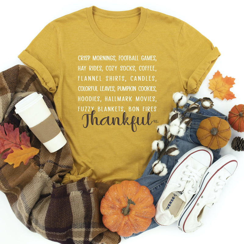 Heather Mustard Crisp Mornings Fall Tee