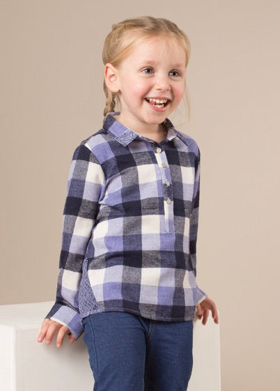 Kids River Lodge Top-Navy and White
