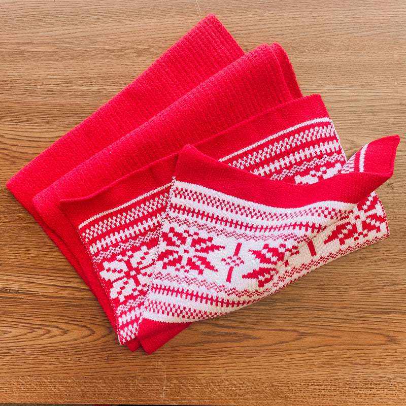 Snow It All Wrap Scarf-Red