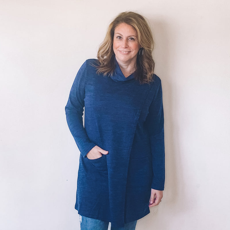 Cowl Neck Pocket Tunic